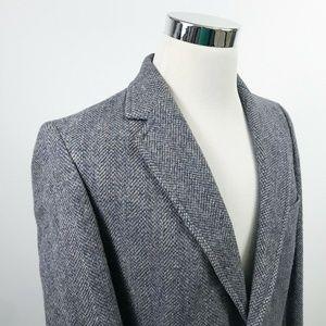 Pendleton Mens 40L Sport Coat Tweed Wool Gray